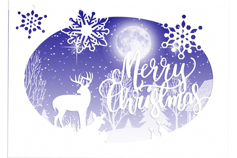 7x5-oval-cutting-file-merry-christmas-card-with-topper
