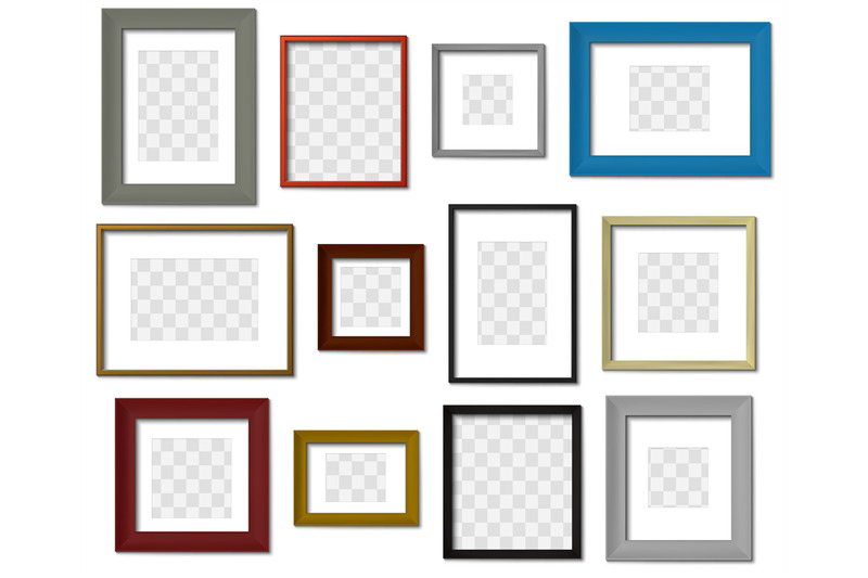 photo-frame-wall-picture-different-color-frames-modern-square-border