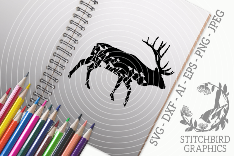 floral-meadow-elk-svg-dxf-instant-download-stitchbird-graphics-comme