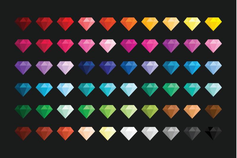 diamond-clip-art-set
