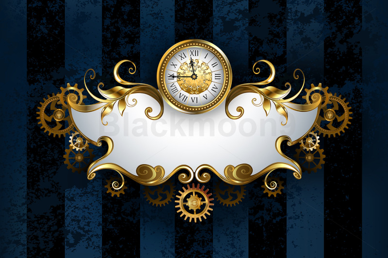 patterned-banner-with-antique-watches