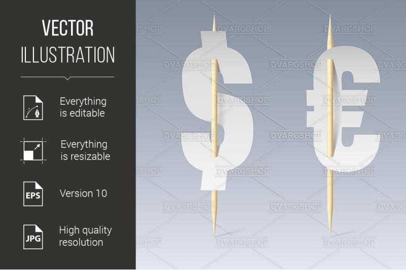 paper-font-on-toothpicks