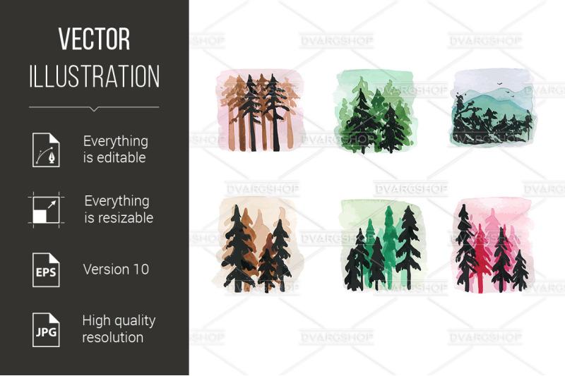 set-of-fir-tree-forest