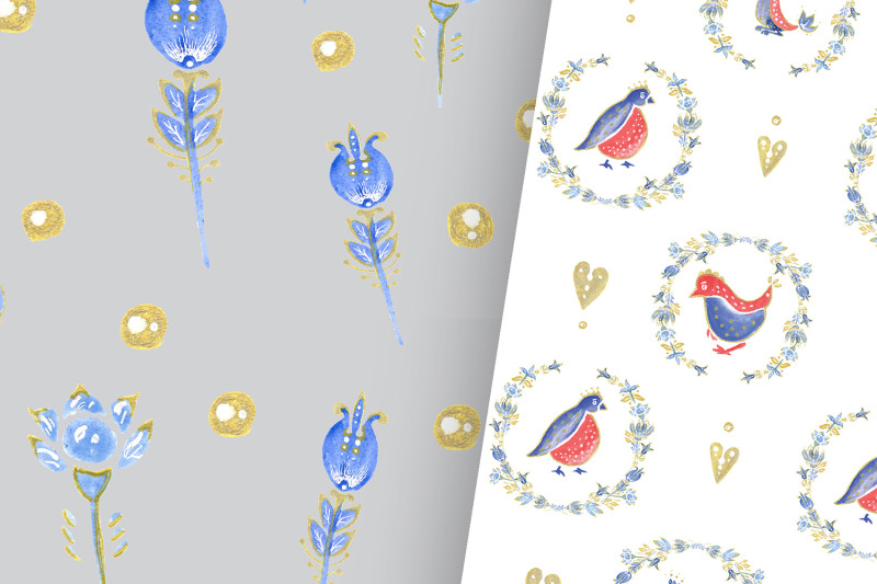 folk-art-birdies-papers
