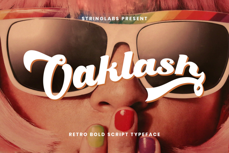 oaklash-retro-bold-script-font