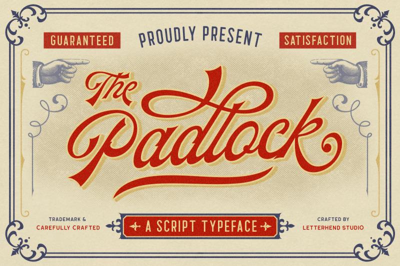 the-padlock-a-vintage-script