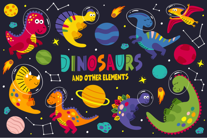 dinosaurs-space-collection