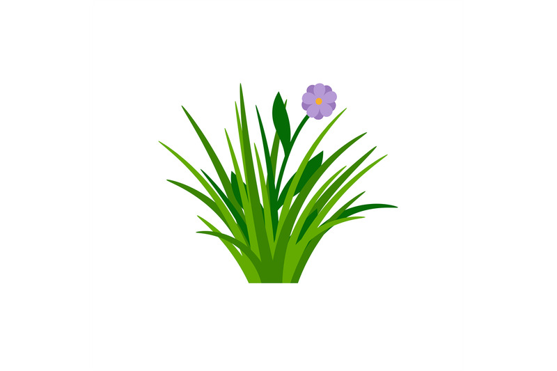 bush-of-green-grass-with-flower