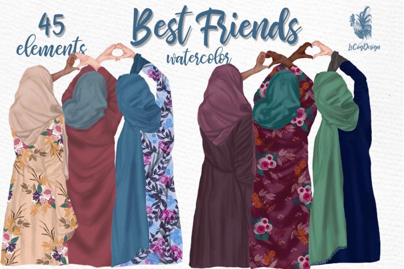 muslim-women-clipart-muslim-girls-hijab-clipart-besties