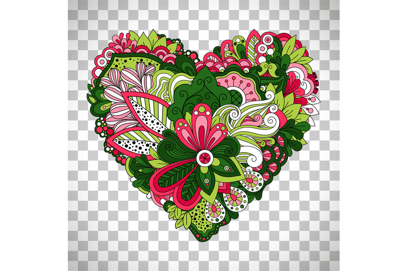 floral-heart-shape-with-summer-flowers