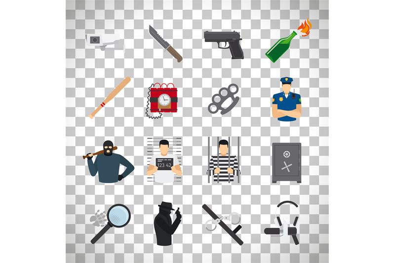 crime-icons-set-on-transparent-background