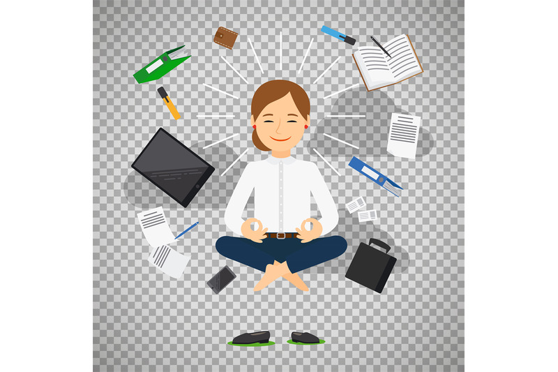 businesswoman-in-meditating-position