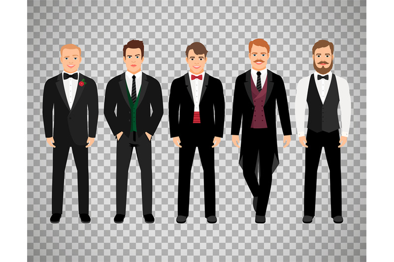fashion-business-men-on-transparent-background