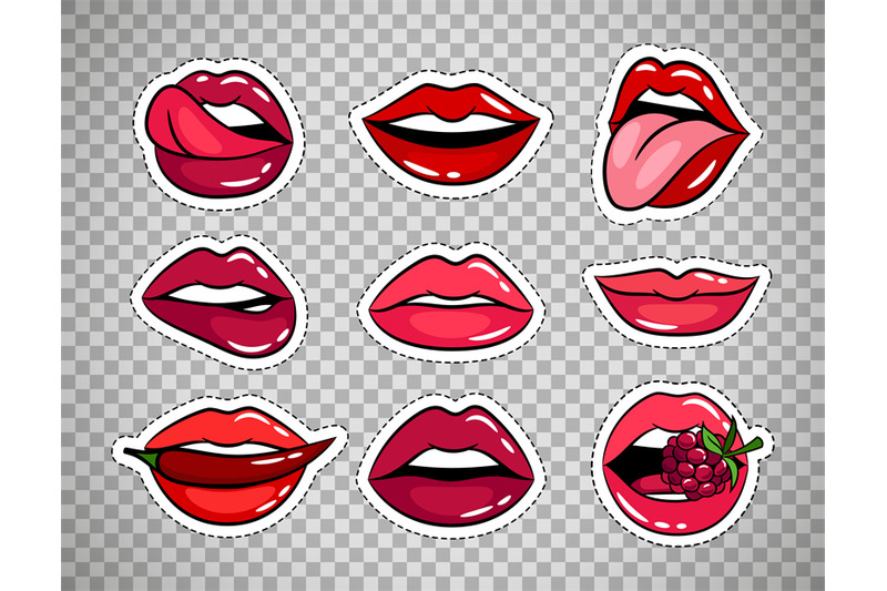 female-lips-patches-on-transparent-background
