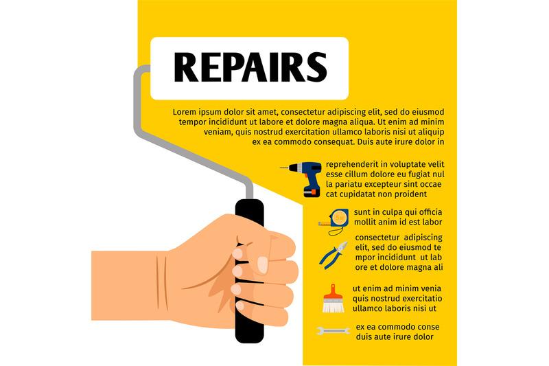 repair-tools-poster-design