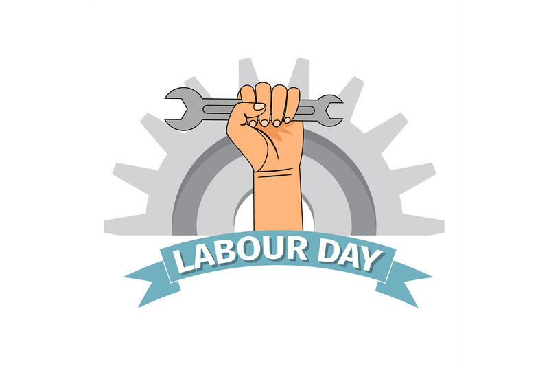 labour-day-poster-with-clenched-fist