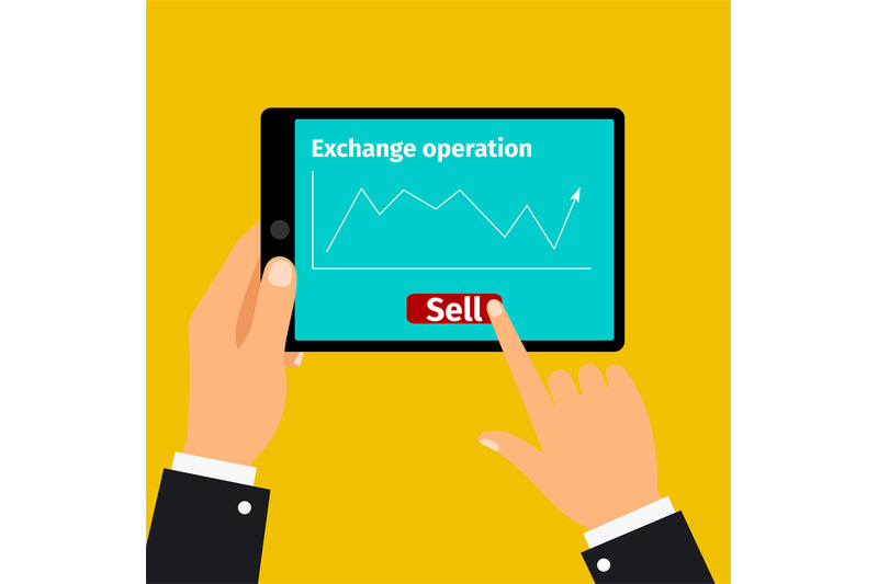 tablet-with-stock-exchange-graphic
