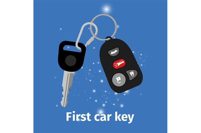 first-car-key-illustration