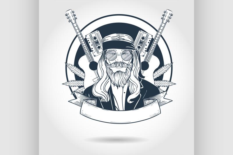hand-drawn-sketch-hippie-man1
