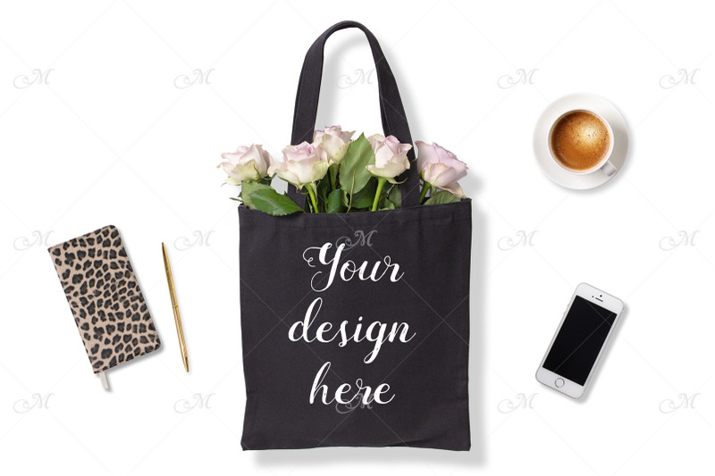 black-tote-bag-w-roses-psd-mock-up
