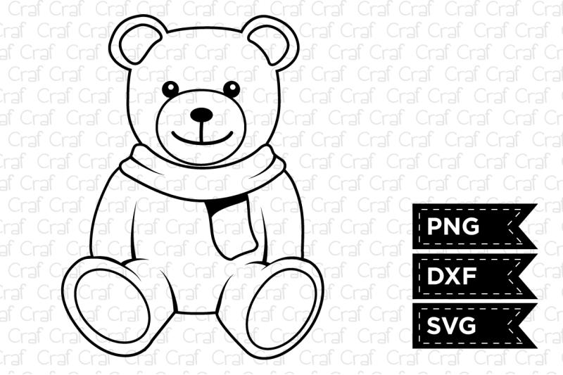 teddy-bear-outline