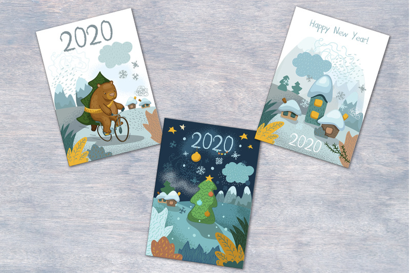 2020-new-year-greeting-postcards-with-back-side