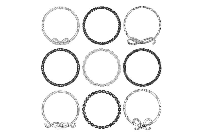 marine-rope-round-frames-set