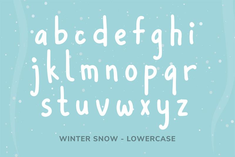 winter snow font by wyarecreatype. Black Bedroom Furniture Sets. Home Design Ideas
