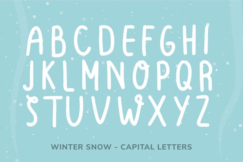 winter-snow-font