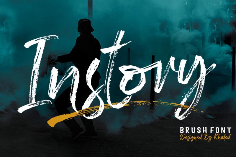 instory-brush-font