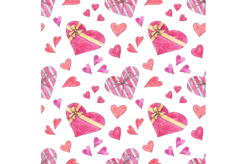 love-seamless-pattern-with-hearts-in-watercolor-sketching-style