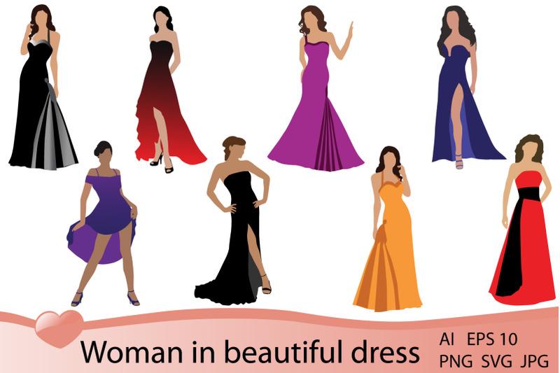 woman-in-beautiful-dress