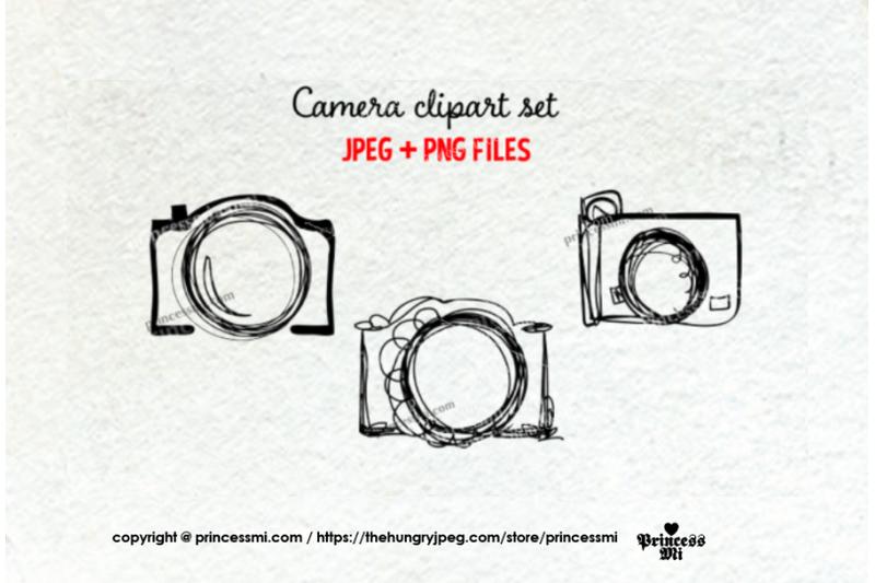 doodle-camera-clipart-set-2