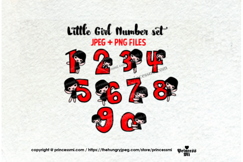 little-girl-number-set-1-to-zero-number-clipart-set