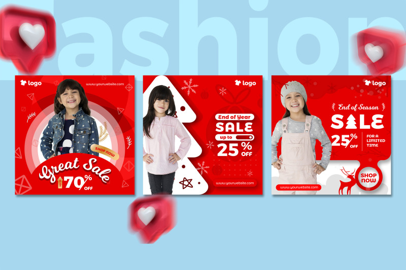 kids-fashion-winter-sale-social-media-post-template-collection