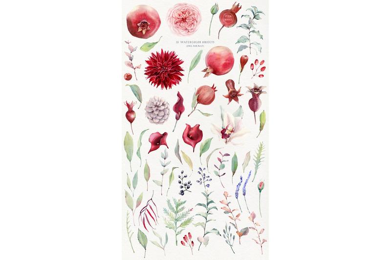 pomegranate-season-watercolor-set