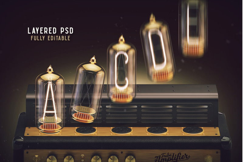 tubes-3d-lettering-set