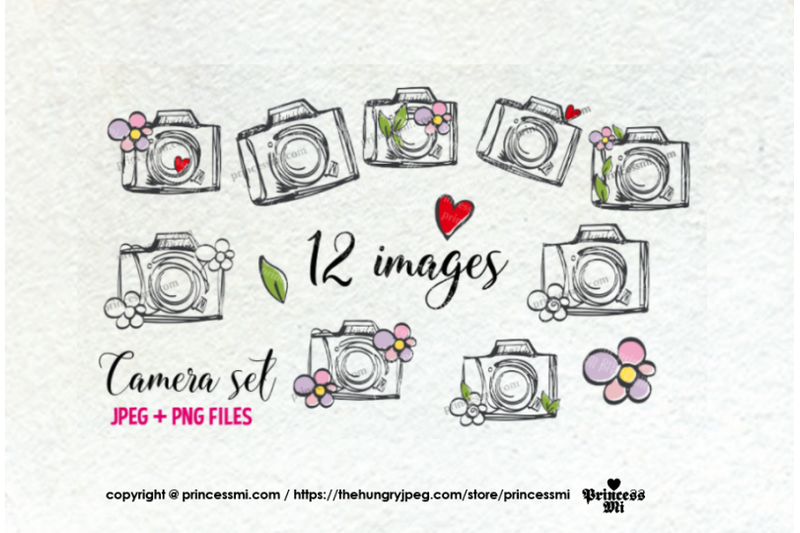 cute-and-fun-camera-clipart-set-with-flowers-love-hearts