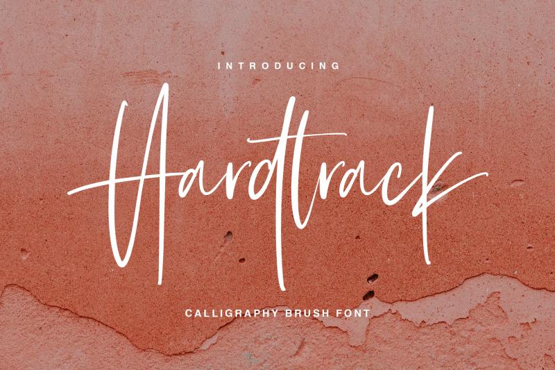 hardtrack-calligraphy-brush-font