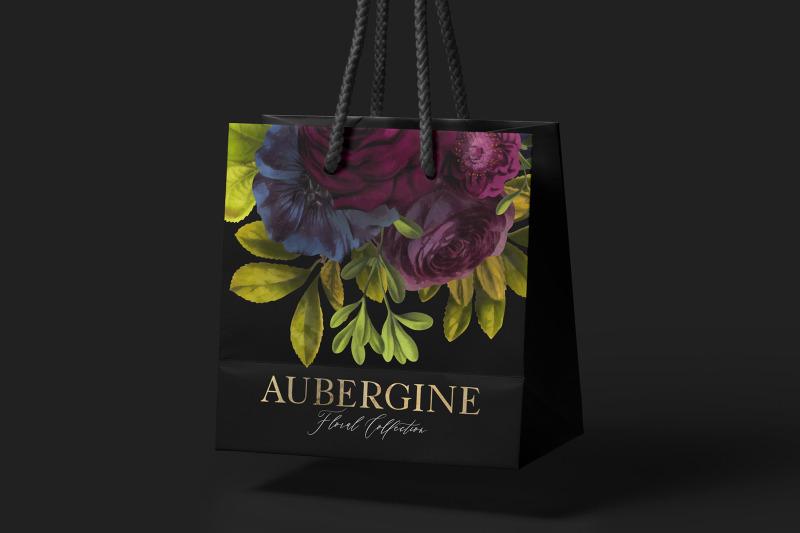 aubergine-floral-clip-art-graphics-collection