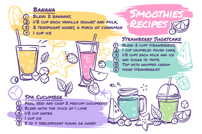 smoothie-recipes-fruit-cocktails-with-smoothie-ingredients-vegetable