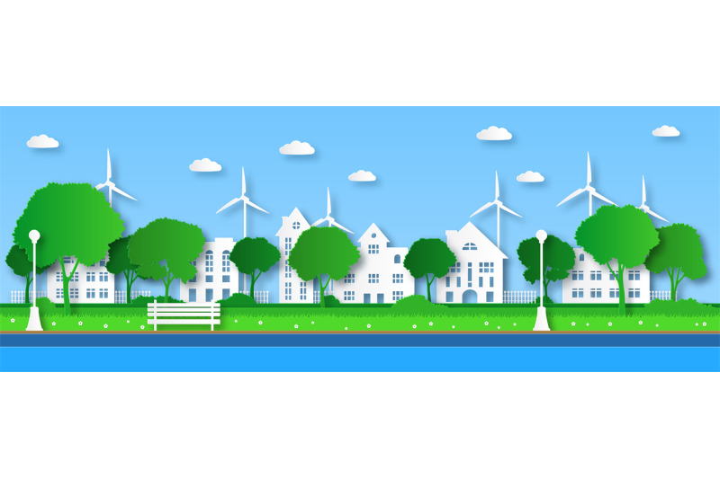 paper-eco-city-green-trees-in-public-urban-park-with-buildings-and-cl