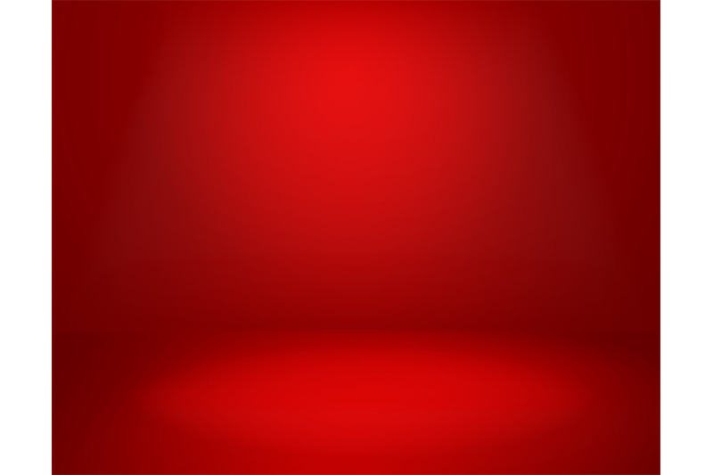 red-studio-background-empty-vivid-red-color-studio-room-modern-inter