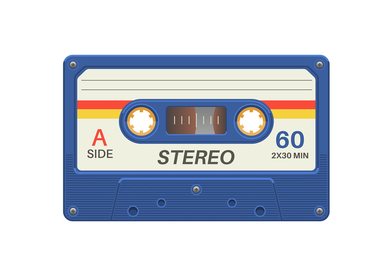 stereo-cassette-retro-audio-tape-with-music-record-for-vintage-poster