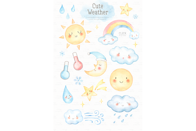 cute-weather-watercolor-clip-arts