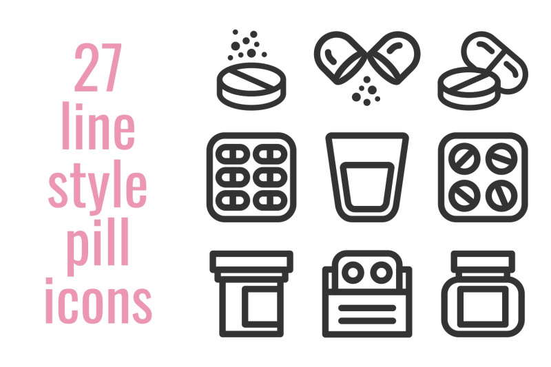 27-line-style-pill-icons