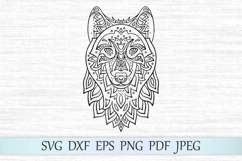 wolf-svg-zentangle-wolf-svg-mandala-wolf-svg-wolf-head-svg