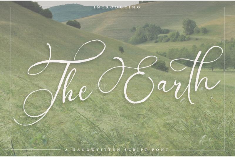 the-earth-a-handwritten-script-font