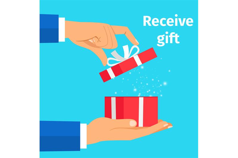 man-receive-the-present