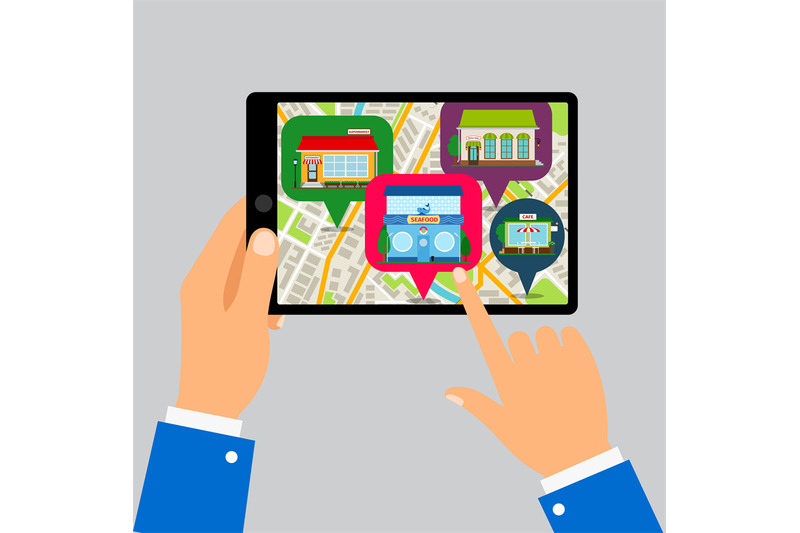 hands-holding-tablet-with-restaurants-map